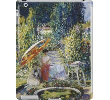 Vintage famous art - Frederick Carl Frieseke - The Garden Umbrella iPad Case/Skin