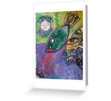 Fish over water Greeting Card