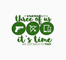 It's time we got back to that  - OTA - GREEN Women's Fitted Scoop T-Shirt