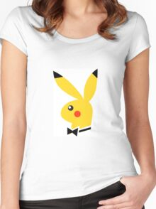 Playboy/pikachu  Women's Fitted Scoop T-Shirt