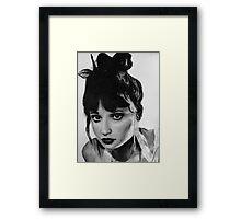 Zoe Portrait Framed Print