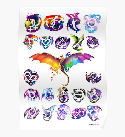 Pride Dragons - Version One Poster