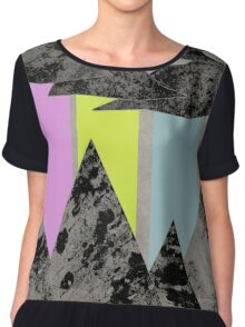 The Sky Cries Colour Chiffon Top