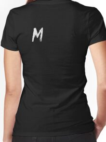M Women's Fitted V-Neck T-Shirt