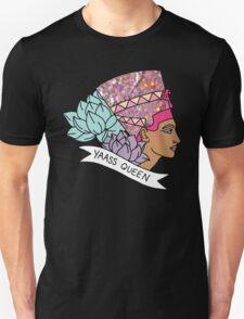 Nefertiti Cleopatra Egyptian lotus beyonce glitter yas yaass queen broad city girly print T-Shirt