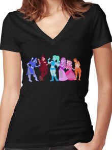 Game Girls  Women's Fitted V-Neck T-Shirt