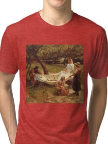 Vintage famous art - Frederick Morgan - The Apple Gatherers Tri-blend T-Shirt