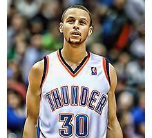Curry On OKC jersey Photographic Print