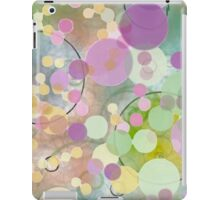 Watercolor Polka Dots and Bubbles iPad Case/Skin