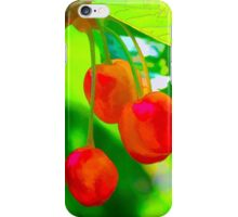 Red Cherries Painting iPhone Case/Skin