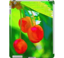 Red Cherries Painting iPad Case/Skin