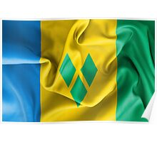 Saint Vincent and the Grenadines Flag Poster