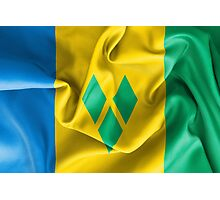 Saint Vincent and the Grenadines Flag Photographic Print