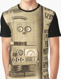 Fictional Vintage Robot Poster Graphic T-Shirt