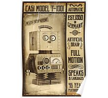 Fictional Vintage Robot Poster Poster