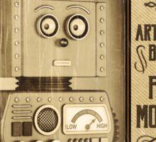 Fictional Vintage Robot Poster Sticker