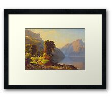 George Caleb Bingham - A View Of A Lake In The Mountains - American Landscape Framed Print