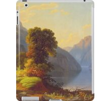 George Caleb Bingham - A View Of A Lake In The Mountains - American Landscape iPad Case/Skin