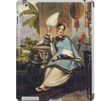 Vintage famous art - George Chinnery - Portrait Of A Girl iPad Case/Skin