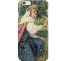 George Dunlop Leslie - Matilda - Dante, Purgatorio -Landscape , Flowers , Woman Portrait  iPhone Case/Skin