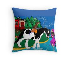 The Long Journey's Rest Throw Pillow
