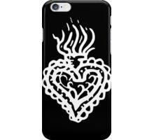 Sacred Heart Tattoo Style 2 White iPhone Case/Skin