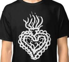 Sacred Heart Tattoo Style 2 White Classic T-Shirt