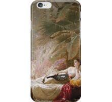 Vintage famous art - George Elgar Hicks - Portrait Of Adelaide Maria Guinness iPhone Case/Skin