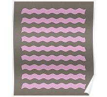 Pink Waves Poster