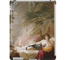 Vintage famous art - George Elgar Hicks - Portrait Of Adelaide Maria Guinness iPad Case/Skin