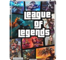 leauge of legends gta poster iPad Case/Skin