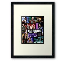 narcos gta poster Framed Print