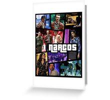 narcos gta poster Greeting Card