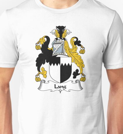 Lang Coat of Arms / Lang Family Crest Unisex T-Shirt