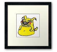 Pikachu's dank-meme intervention Framed Print