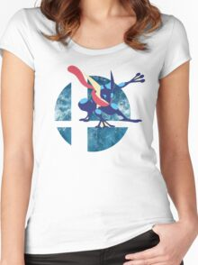 Super Smash Bros Greninja Women's Fitted Scoop T-Shirt