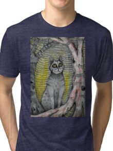 cat in the woods Tri-blend T-Shirt