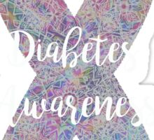 Diabetes Mandala Ribbon Sticker