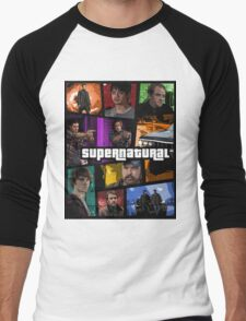 supernatural gta poster Men's Baseball ¾ T-Shirt