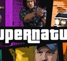 supernatural gta poster Sticker