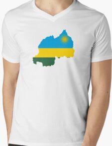 Flag Map of Rwanda T-Shirt