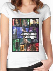 jessica jones gta poster Women's Fitted Scoop T-Shirt