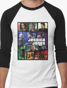 jessica jones gta poster Men's Baseball ¾ T-Shirt