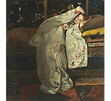 Vintage famous art - George Hendrik Breitner - Girl In White Kimono Photographic Print