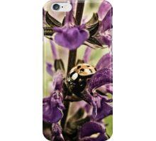 Ladybug and Lavender Gardenscape iPhone Case/Skin