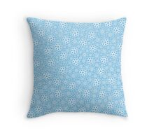 Light Blue Thousands Flower Throw Pillow