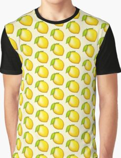 Lemonade Lemon Emoji Pattern Graphic T-Shirt