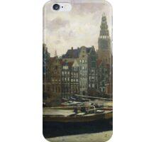 Vintage famous art - George Hendrik Breitner - The Damrak, Amsterdam iPhone Case/Skin