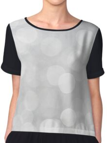Grey Bokeh Chiffon Top