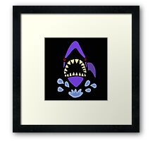 Cool Funny Shark Gaping Jaws Art Abstract Framed Print